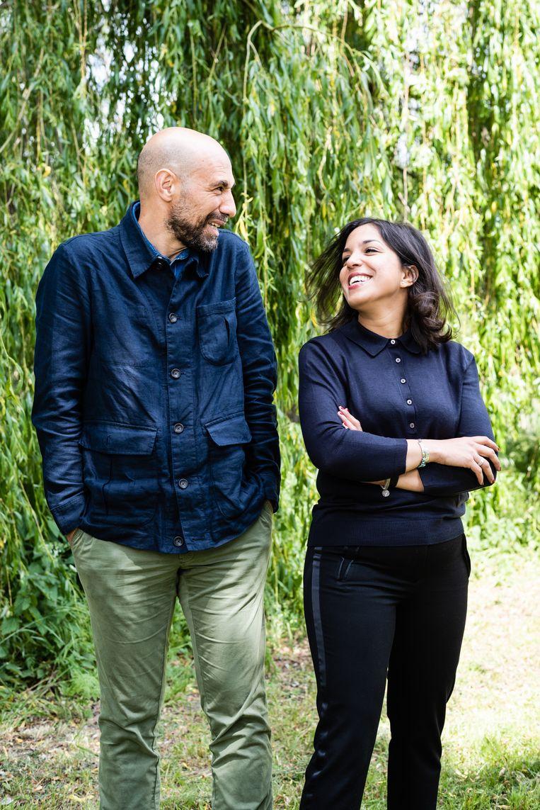 Abdelkader Benali en Nadia Bouras. Beeld Katja Poelwijk