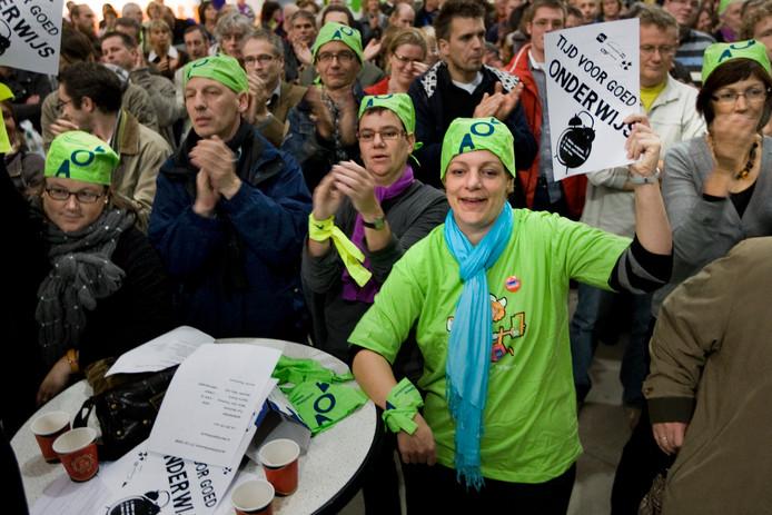 De aftrap van de lerarenstaking oktober vorig jaar in de Brabanthallen in Den Bosch.