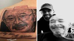 """Steven Defour eert overleden vader met tattoo op zijn rug: """"Mijn held, mijn inspiratie"""""""