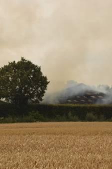Veel rookontwikkeling bij brand in schuur in Pannerden