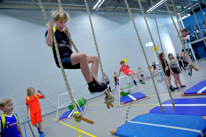 Kinderen tussen de 7 en 12 jaar kwamen af op de door RegieKr8 georganiseerde 'Levende Games'.