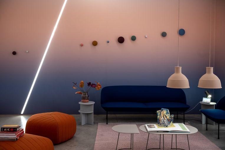 Een van de drie interieurs van Google, waarin wordt gemeten hoe de bezoeker reageert op de stijl en de sfeer.  Beeld