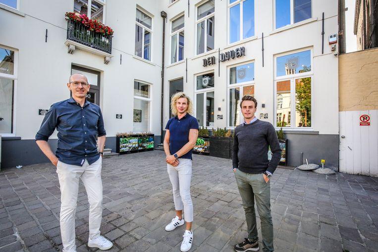 Olivier Dujardin, Ruben Cloetens en Niels Floreal namen den Dyver over