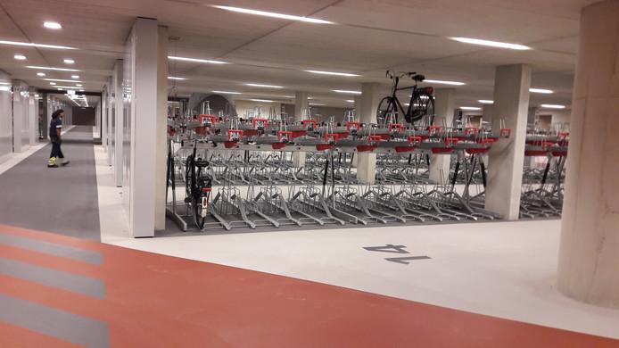 Het was rustig in de nieuwe fietsenstalling vanmorgen vroeg.