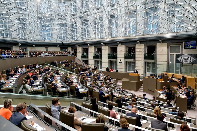 Het Vlaams parlement in Brussel.