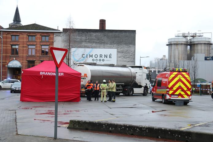 L'accident s'est produit sur le parking de la société Tereos, à Alost.