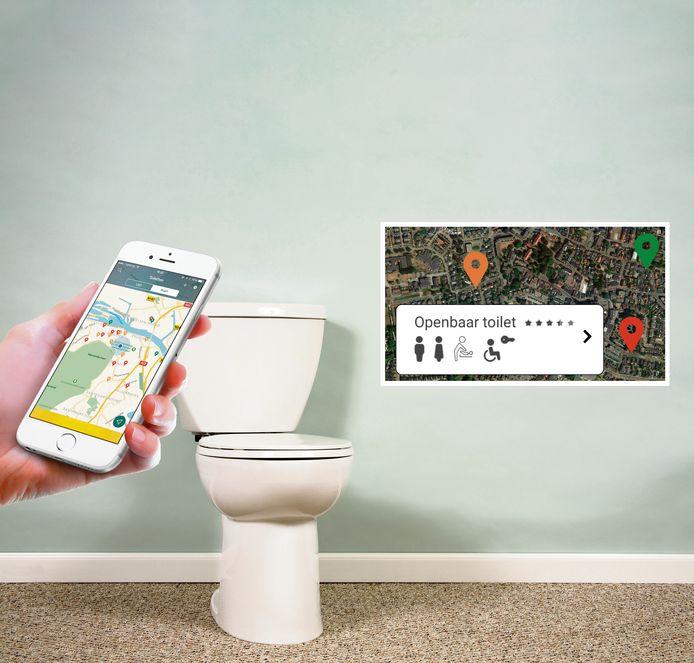 Naar het toilet via de app.