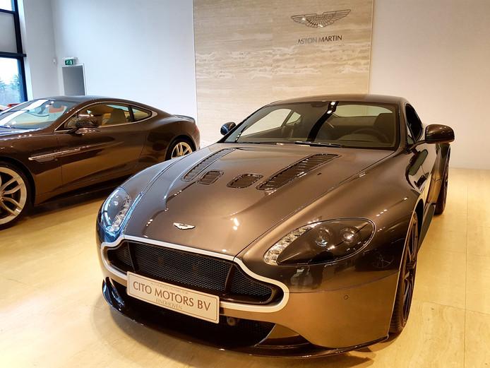 De Aston Martin waar Max Verstappen in heeft gereden