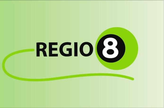 Het logo van Regio8.