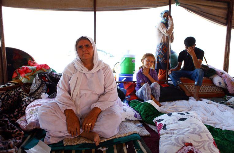 Yezidi's in Mosul. Beeld getty