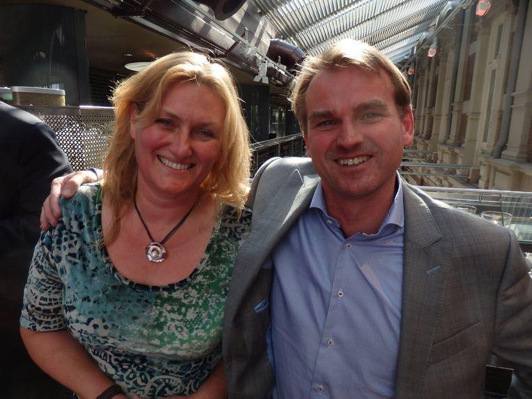Marketeers Monique Opdam en Johan van der Zanden kenden elkaar al. Johan: 'Altijd leuk: mensen uit het vakgebied.' Beeld -