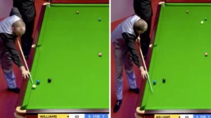 Tweevoudig wereldkampioen scoort zonder te kijken... terwijl hij snooker ligt
