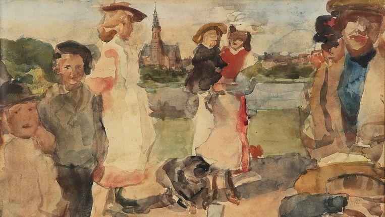 Isaac Israëls, Kinderen in het Oosterpark, (c. 1892-1896). Beeld Particuliere collectie