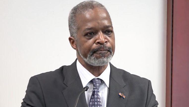 President van de Centrale Bank van Curaçao en Sint Maarten Emsley Tromp Beeld .