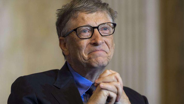 Bill Gates is de drijvende kracht achter de Breakthrough Energy Coalition, die maandag in Parijs werd gelanceerd. Beeld afp