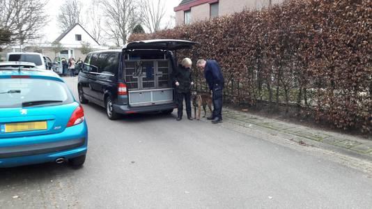 Bij het onderzoek naar het incident zet de politie speurhonden in.