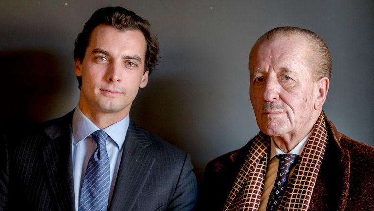 Thierry Baudet en Theo Hiddema van de partij Forum voor Democratie. Beeld anp