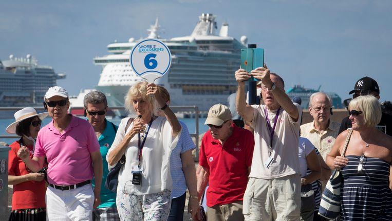 Mallorca wordt overspoeld door toeristen die het eiland vaak snel even aandoen aan boord van een cruiseschip.
