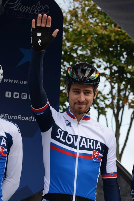 Peter Sagan werd zondag in Plumelec Europees kampioen