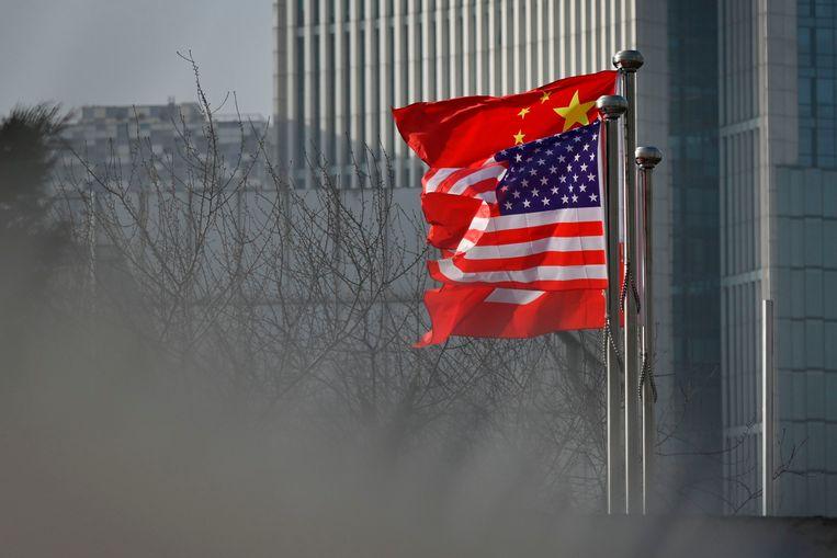 Beijing neemt tegenmaatregelen naar aanleiding van wat Beijing 'de Amerikaanse onderdrukking van Chinese media-organisaties' noemt. Een grote groep Amerikaanse journalisten wordt het land uitgezet. Beeld AFP