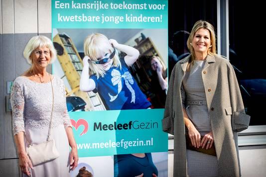 De koningin was te gast bij een congres van Stichting MeeleefGezin.