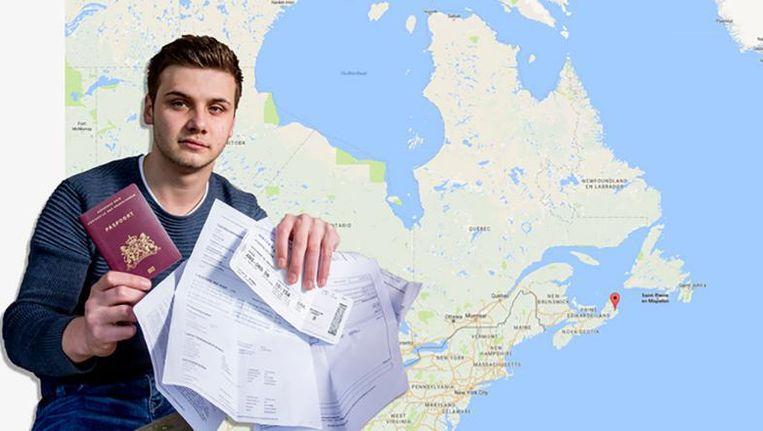 Milan Schipper belandde per ongeluk in het Canadese Sydney in plaats van het zonnige Australische Sydney.