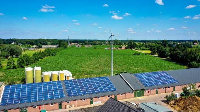 De boeren gaan wind- en zonne-energie combineren