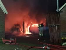 Uitslaande brand in kapschuur in Beltrum