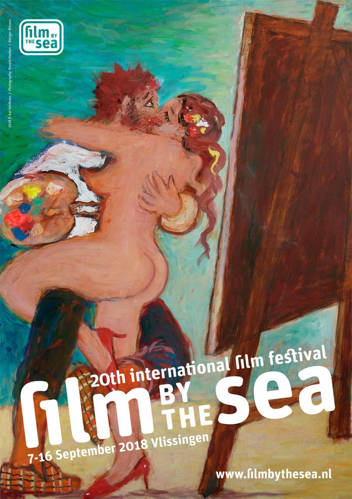 Poster van Film by the Sea 2018, ontworpen door Aat Veldhoen.