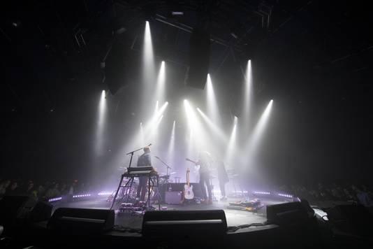 Een spectaculaire lichtshow zorgde voor een bijzondere sfeer tijdens het concert.