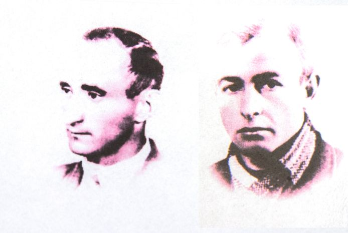 Henk (l) en Gerard Derks. Henk offerde zich op om zijn jongere broers te sparen.