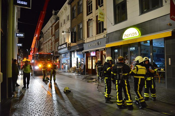 Brand in centrum Breda.
