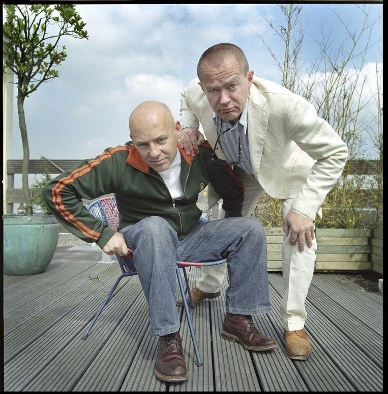 Tom de Ket en George van Hout als het cabaretduo Van Houts & De Ket. Beeld Hollandse Hoogte