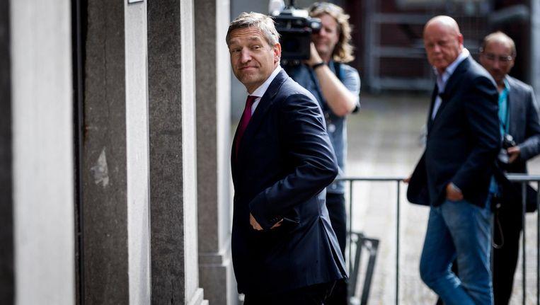 CDA-leider Sybrand Buma op het Binnenhof. Beeld Freek van den Bergh / de Volkskrant