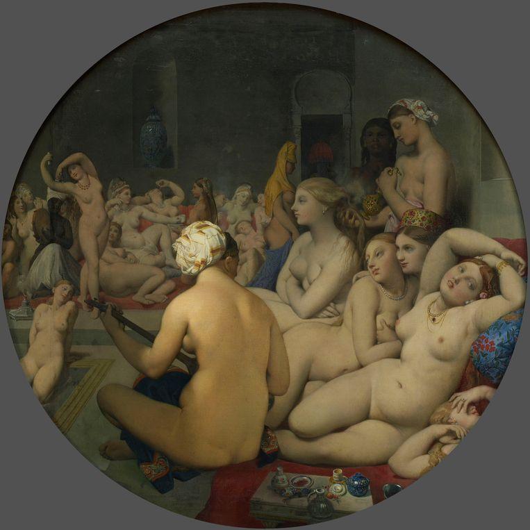 Jean-Auguste-Dominique Ingres: Le Bain Turc (1862). Beeld Museo del Prado