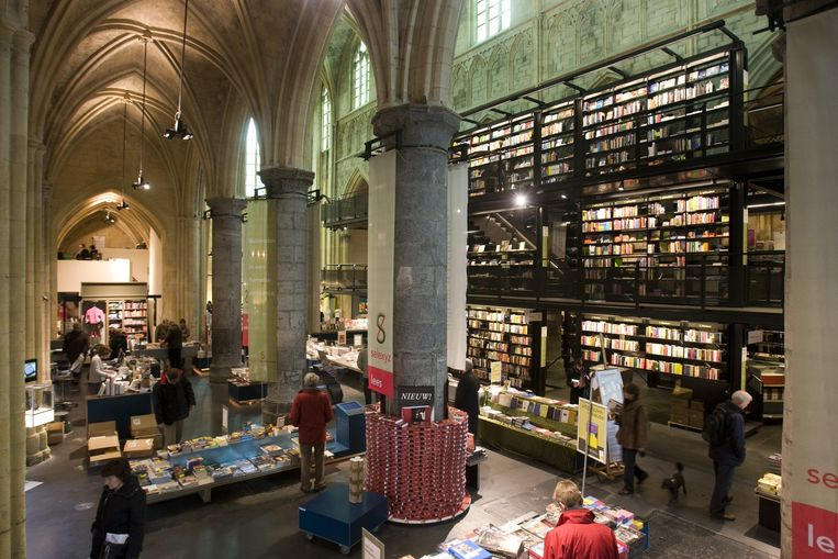 In de Dominicanenkerk in Maastricht zit tegenwoordig een boekhandel. Beeld anp
