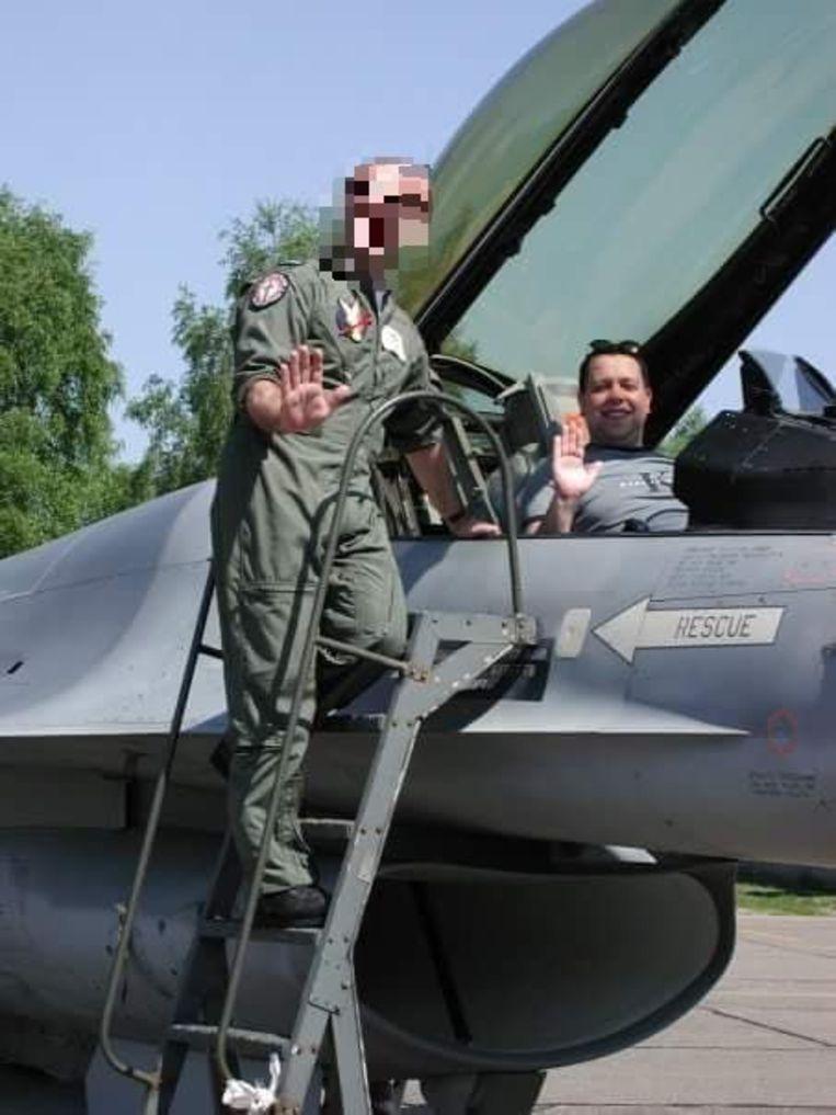 Wim heeft al jaren een goeie band met F16-piloten.