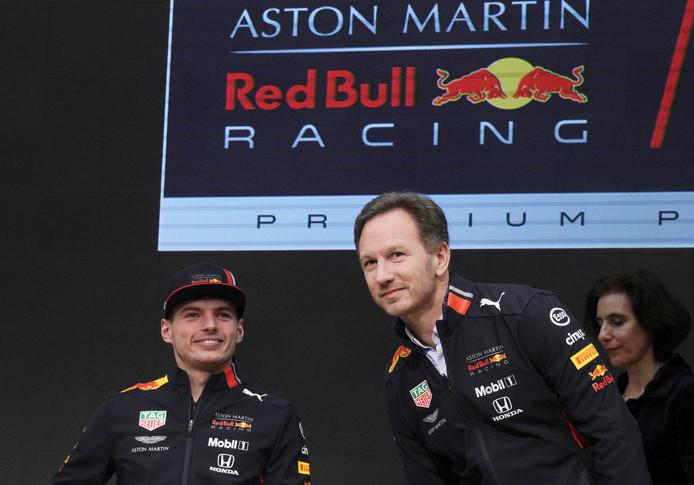 Christian Horner en Max Verstappen