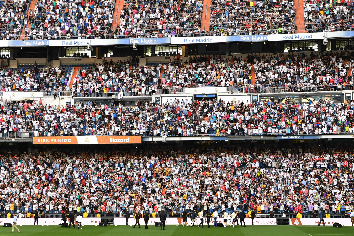 Supporters van Real Madrid.