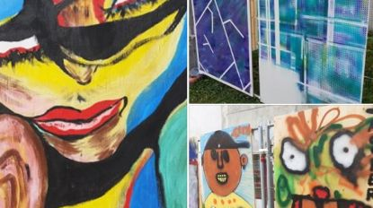 Creatieve coronamuur krijgt stilaan vorm op collegesite
