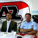Martin van Geel en Co Adriaanse bij AZ.