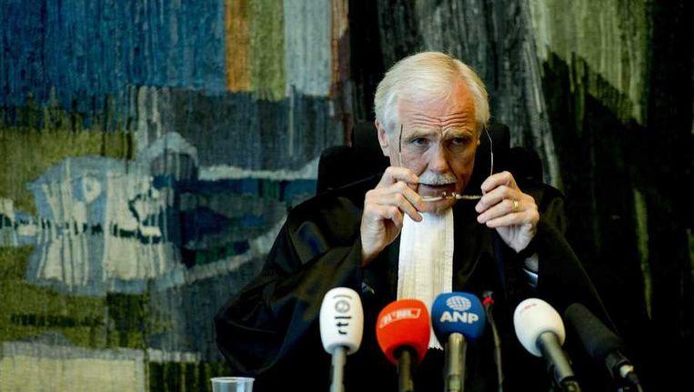 Voorzitter mr. Boekhorst Carrillo, voorafgaand aan de uitspraak in het hoger beroep van de Facebookmoord. Joyce 'Winsie' Hau (15) uit Arnhem is in januari 2012 in de deuropening van haar ouderlijk huis neergestoken door de toen 14-jarige Jinhua K. Ze overleed 5 dagen later. Beeld anp
