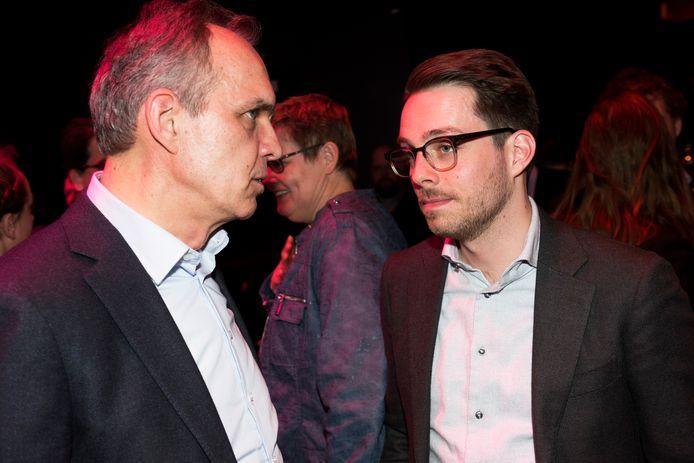 Algemeen directeur Woonbond Paulus Jansen en PvdA-fractievoorzitter Rick van der Zweth.