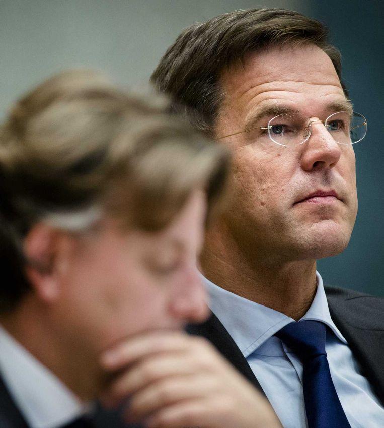 Premier Rutte en minister Koenders. Beeld anp