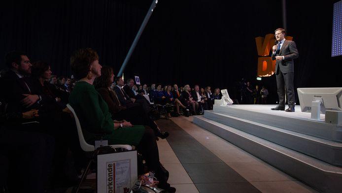 Premier Mark Rutte tijdens het jaarlijkse VVD-najaarscongres