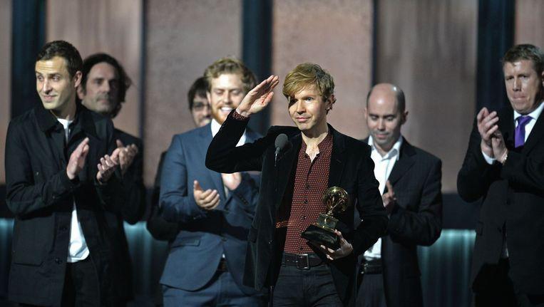 Beck neemt zijn Grammy in ontvangst Beeld anp