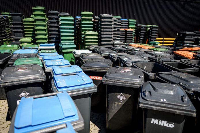 Diverse afvalbakken.