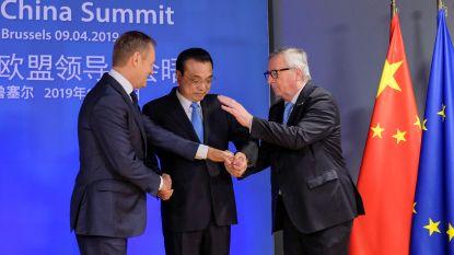 """Ondanks spanningen bereiken Europa en China """"ambitieus"""" slotakkoord"""
