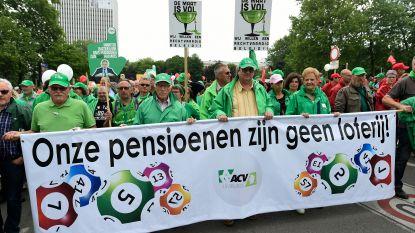 Protest in vijf Vlaamse steden en Brussel tegen pensioenplannen van regering
