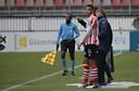Noah van Geenen als invaller van Jong Sparta in maart 2019.